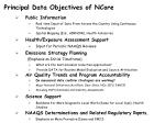 principal data objectives of ncore1