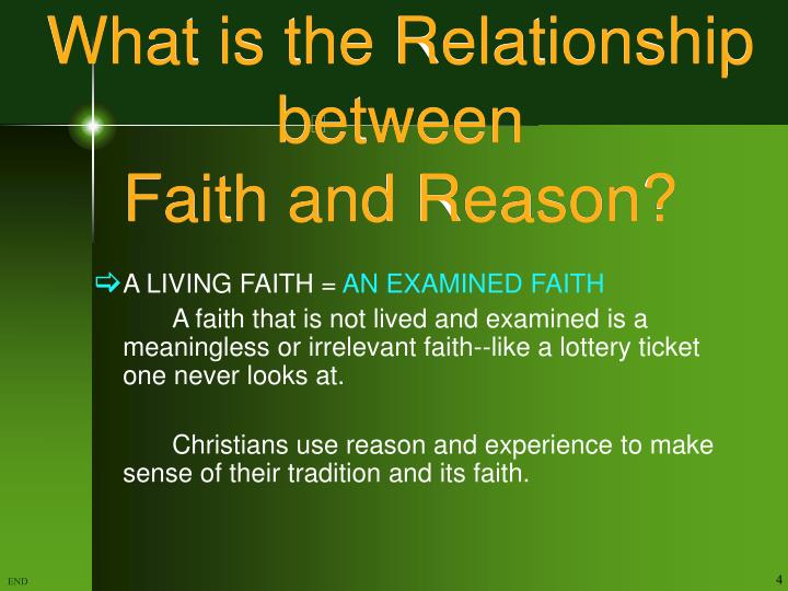 relationship between faith and reason essay Aquinas: philosophical theology in addition to his moral philosophy, thomas aquinas (1225-1274) is well-known for his theological writings he is arguably the most eminent philosophical theologian ever to have lived to this day, it is difficult to find someone whose work rivals aquinas' in breadth and influence.