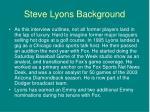 steve lyons background5