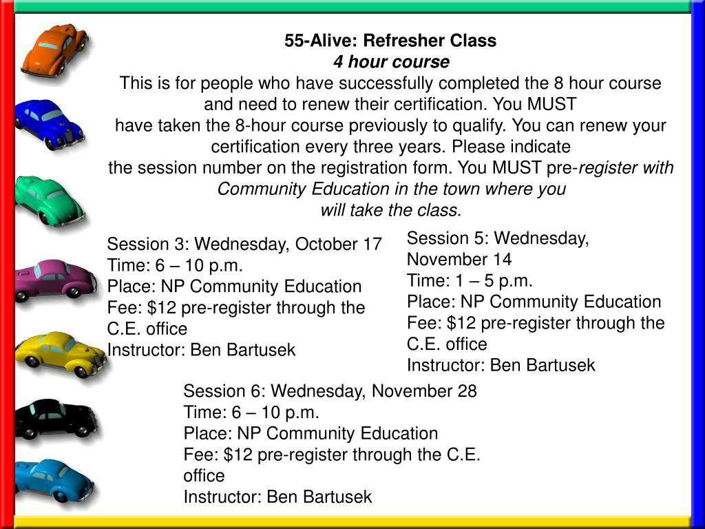 55-Alive: Refresher Class
