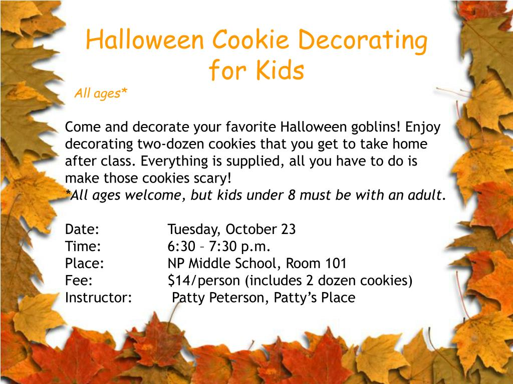Halloween Cookie Decorating for Kids
