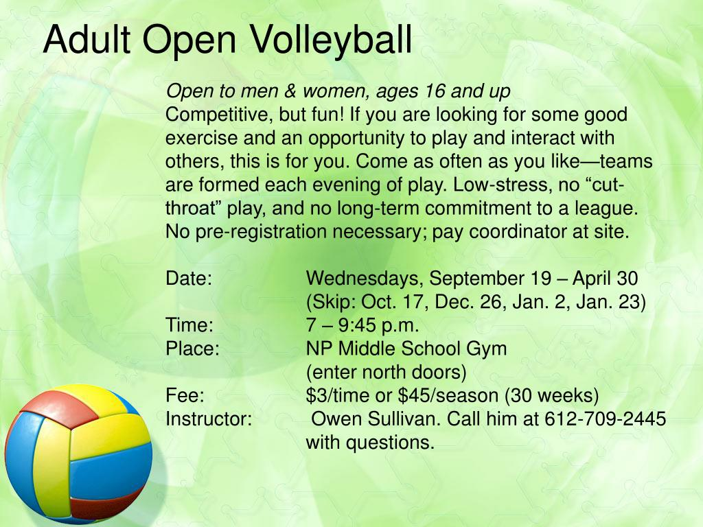 Adult Open Volleyball