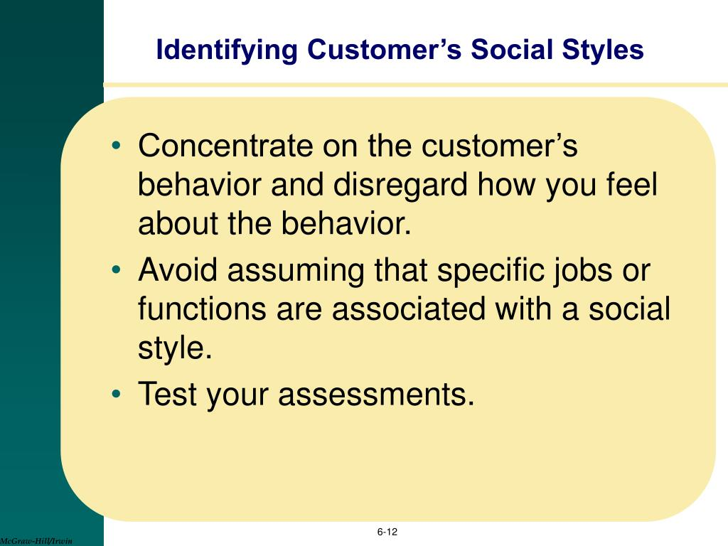 Styles test social SOCIAL STYLE®