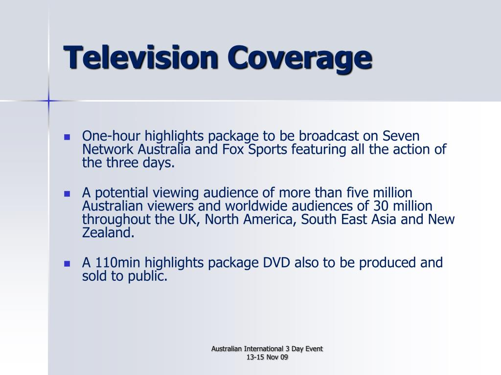 Television Coverage