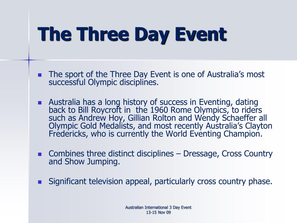 The Three Day Event
