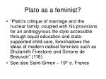 plato as a feminist