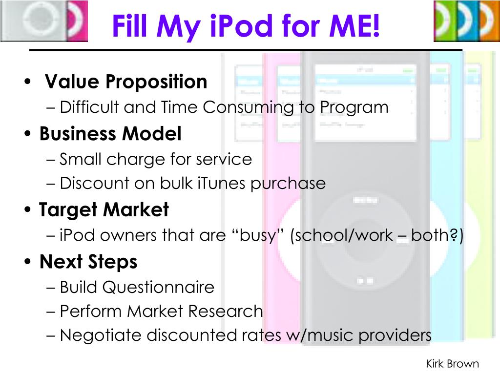 Fill My iPod for ME!