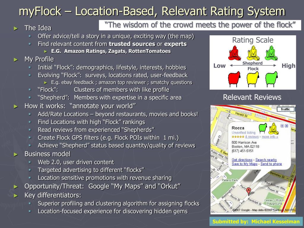 myFlock – Location-Based, Relevant Rating System