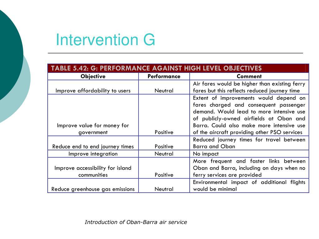 Intervention G