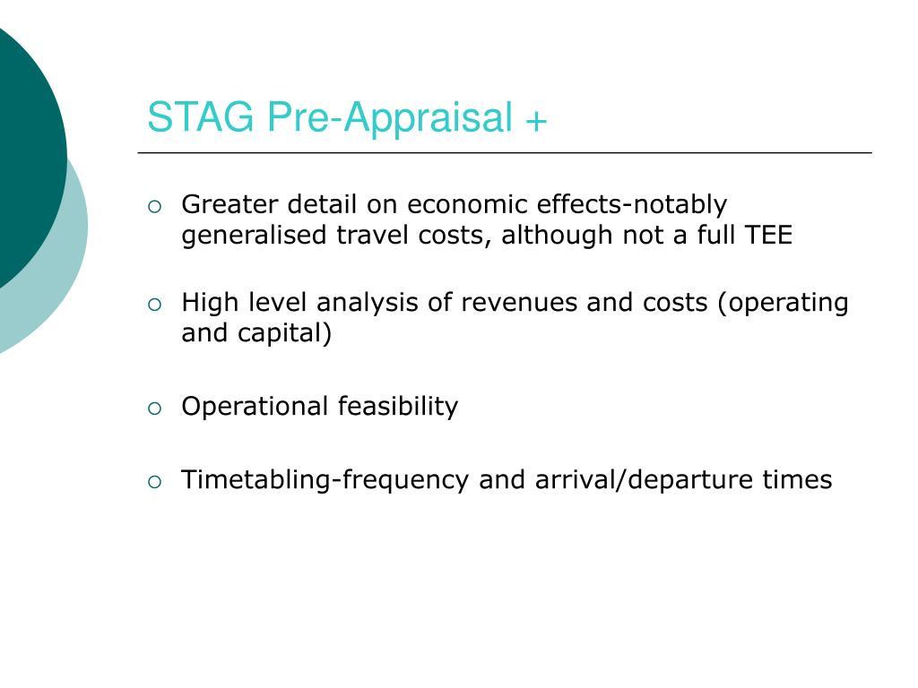 STAG Pre-Appraisal +