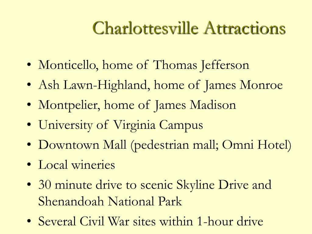 Charlottesville Attractions