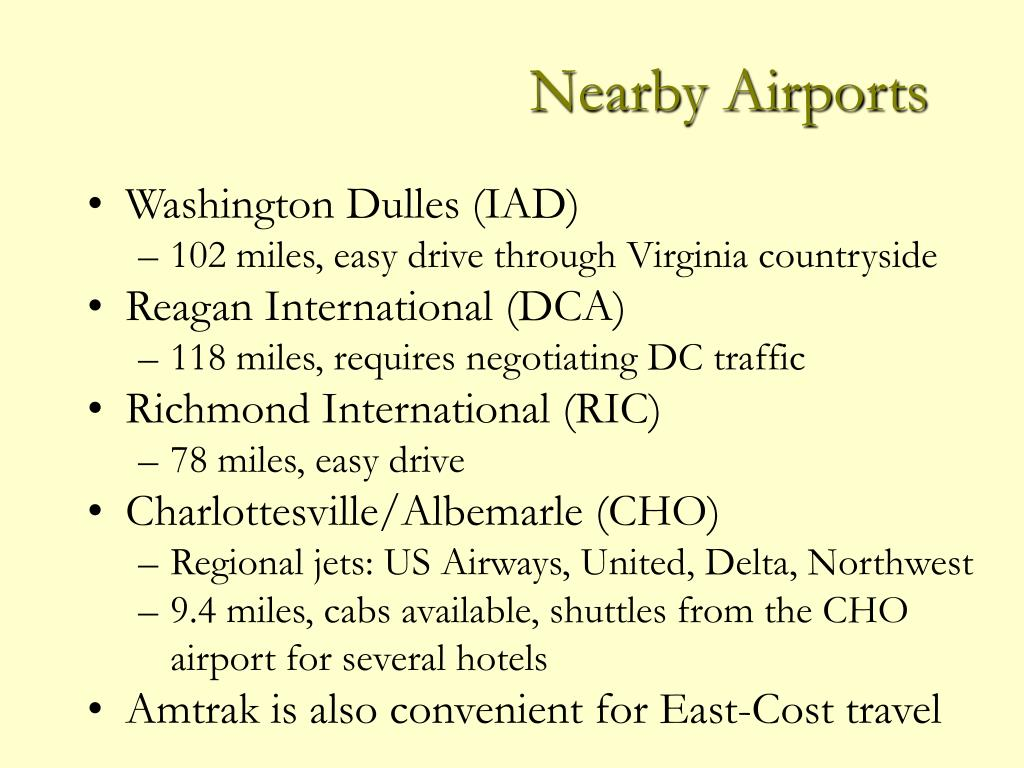 Nearby Airports