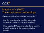 maguire et al 2000 the experimental methodology