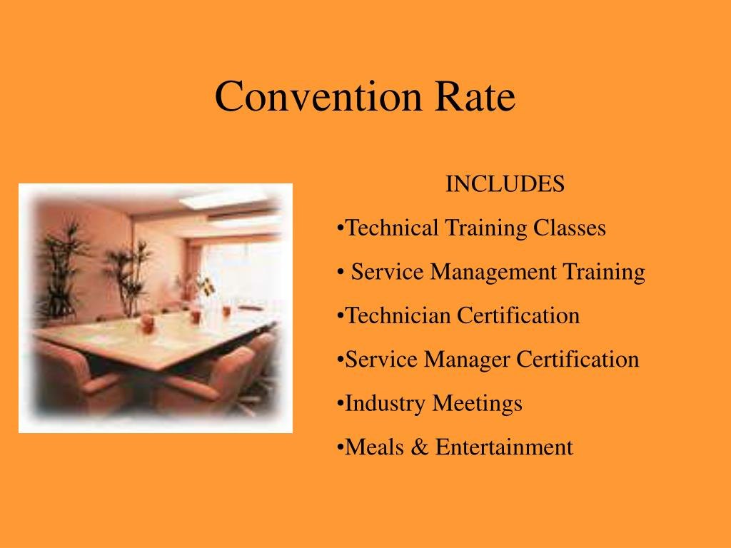Convention Rate