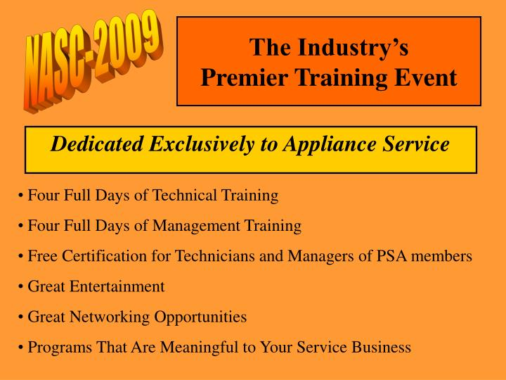 The industry s premier training event