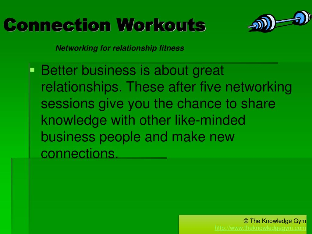 Connection Workouts