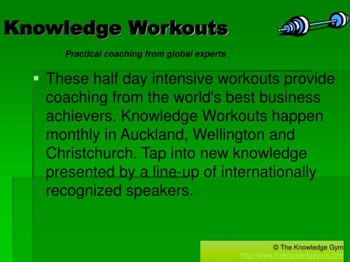 Knowledge workouts
