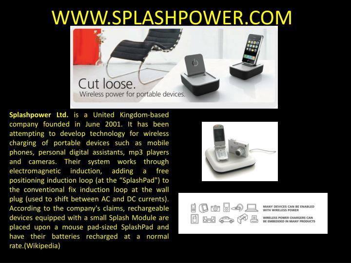 WWW.SPLASHPOWER.COM