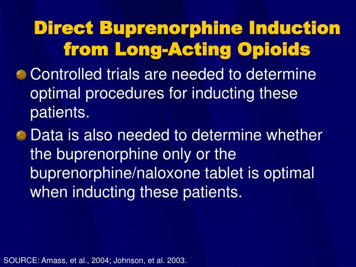 Direct Buprenorphine Induction from Long-Acting Opioids