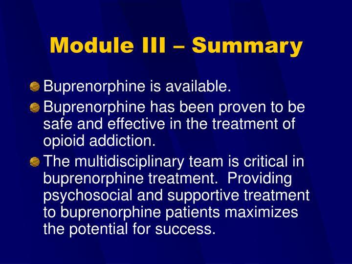 Module III – Summary