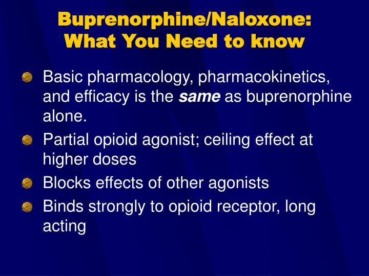 Buprenorphine/Naloxone: