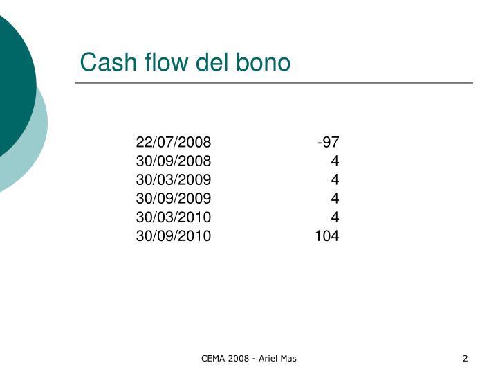 Cash flow del bono