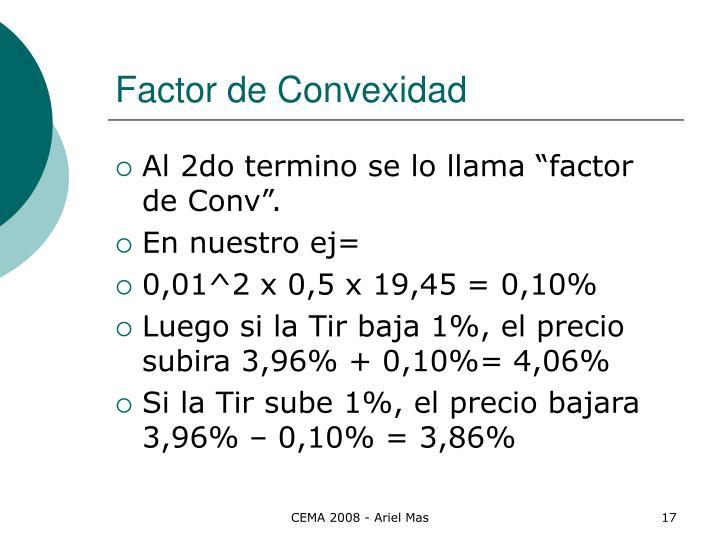 Factor de Convexidad