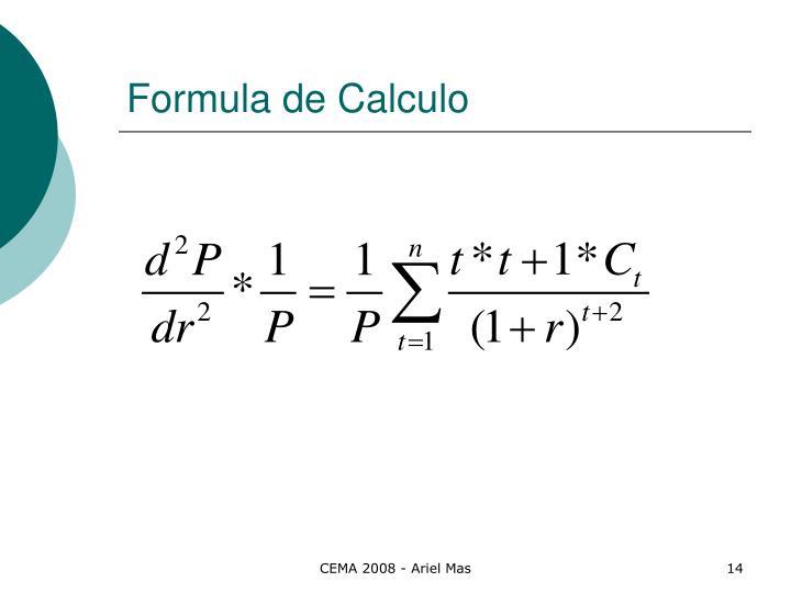 Formula de Calculo