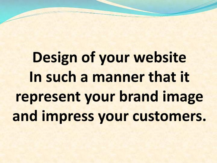 Design of your website