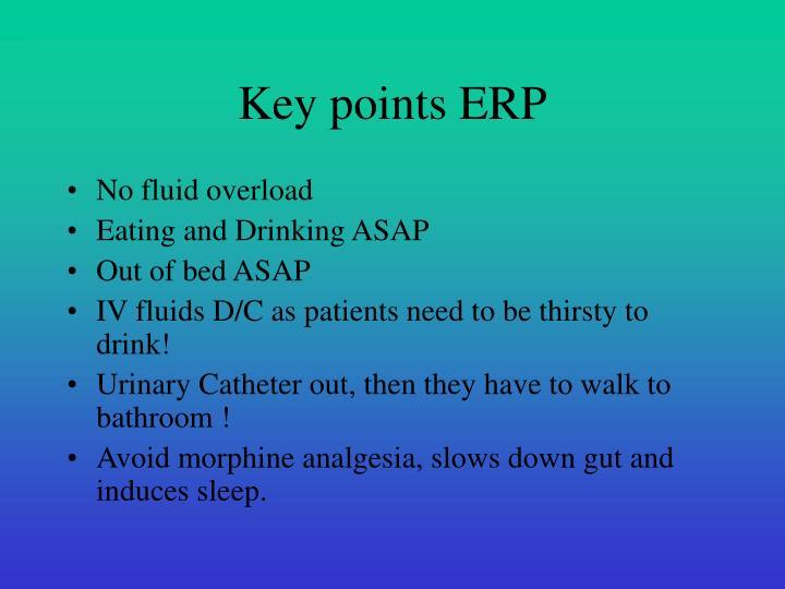 Key points ERP