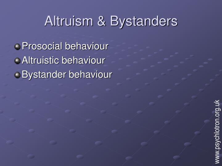 bystander behavior and concepts essay