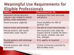meaningful use requirements for eligible professionals2