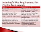 meaningful use requirements for eligible professionals3