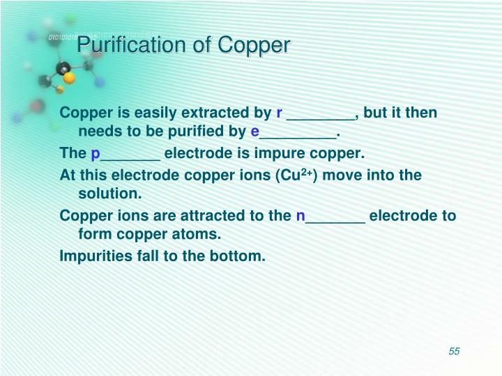 Purification of Copper