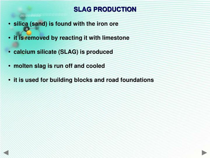 SLAG PRODUCTION