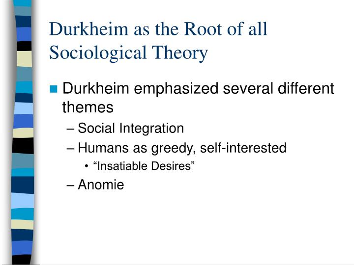 durkheim s modernization theory Lecture 23 - durkheim's theory of anomie overview in the transition from mechanical solidarity to organic solidarity, brought on by increasing division of labor.