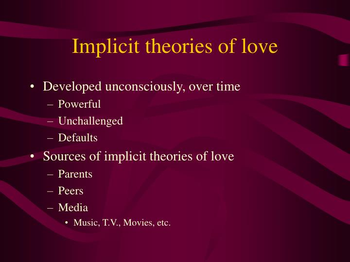 Implicit theories of love