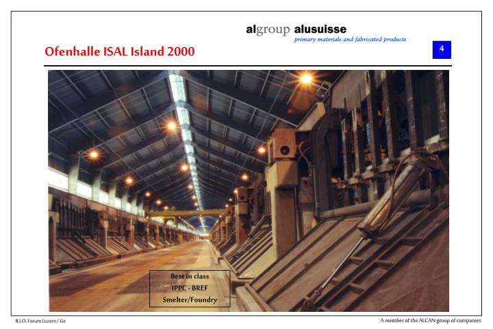 Ofenhalle ISAL Island 2000