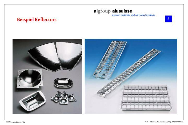 Beispiel Reflectors