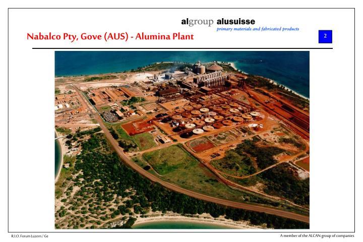 Nabalco Pty, Gove (AUS) - Alumina Plant