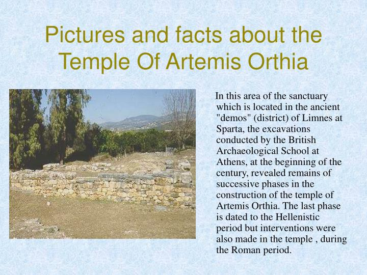Pictures and facts about the Temple Of Artemis Orthia