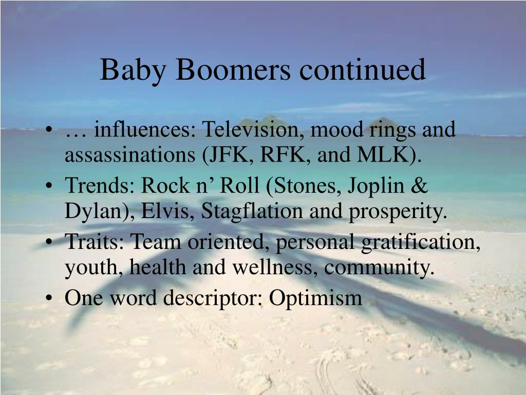 Baby Boomers continued