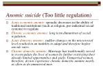 anomic suicide too little regulation1