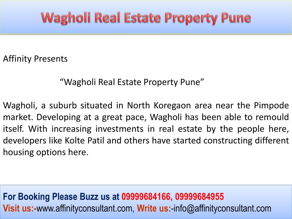 Wagholi Real Estate Property Pune
