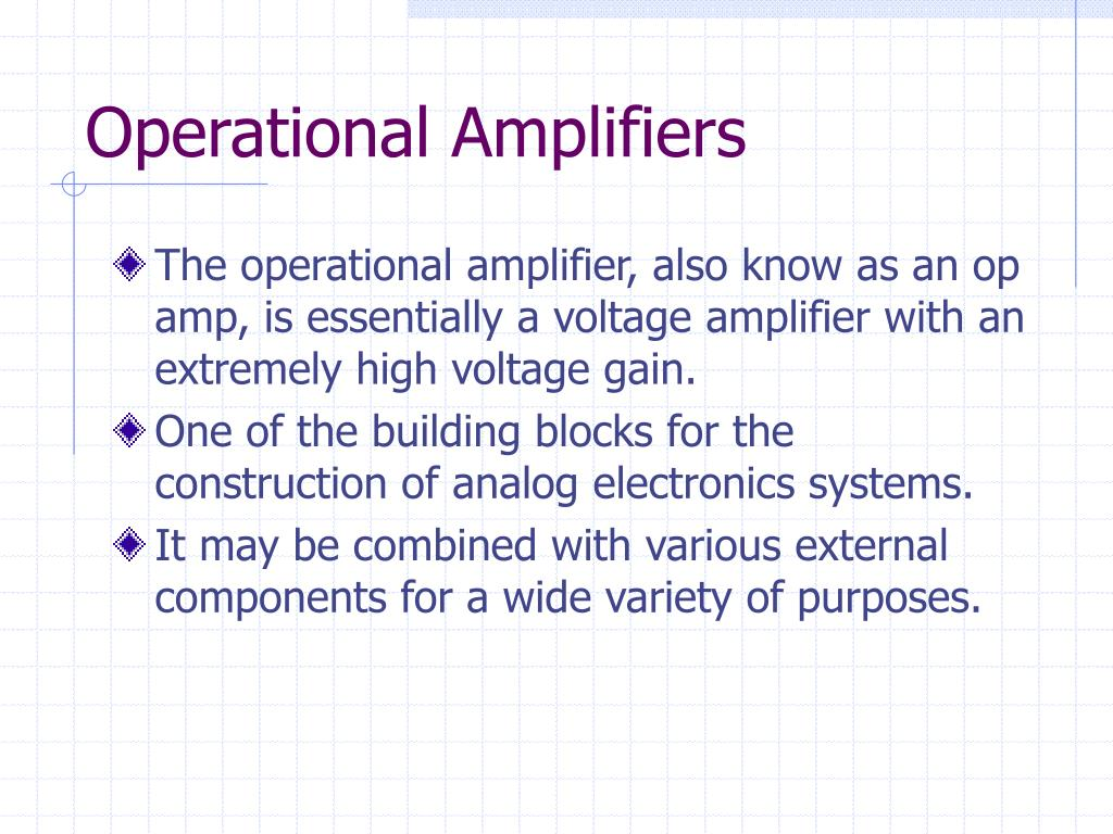 Ppt Operational Amplifiers Powerpoint Presentation Id1203297 Amplifier Basics Electrical Engineering N
