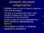 automatic document categorization