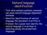 natural language identification