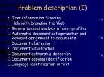 problem description i