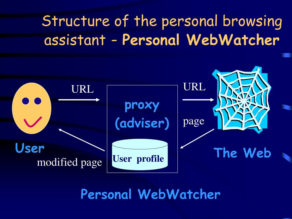 Structure of the personal browsing assistant
