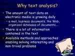 why text analysis